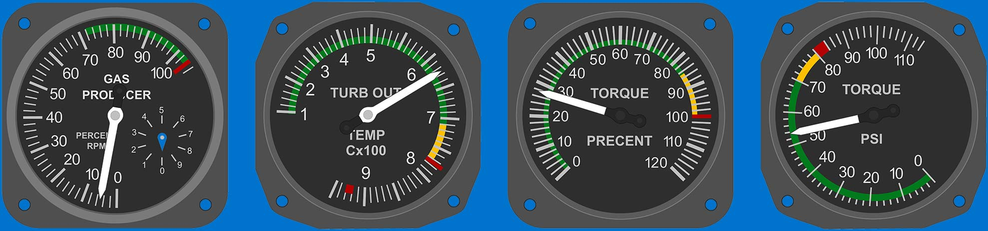 Helicopter Gauges