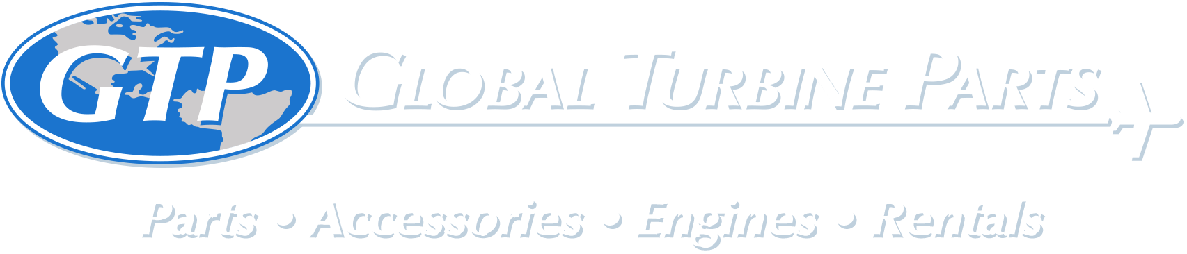 Global Turbine Parts Logo White